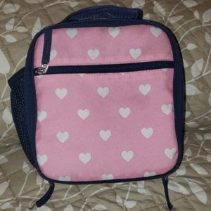 Pottery barn kids lunch box lunchbox pink hearts